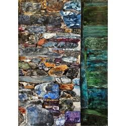 Muro di sassi e porta (Cinque Terre)
