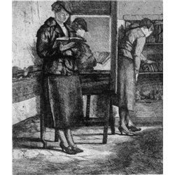 Two figures in the study