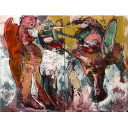 Francky Criquet , panel diptych on canvas, mixed media on canvas, Contemporary Art,