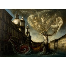 Ittiocentauro harassed by the usual Angels Piazza Navona