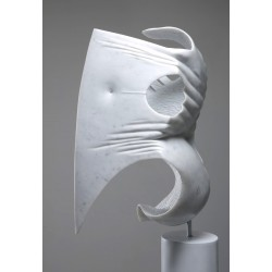 Angelo Brugnera, Marble Sculpture, Marble White Savannah, Contemporary Art,